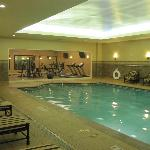 Pool looking into fitness room