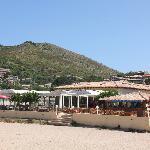 ristorante visto dalla spiaggia