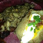 ...mushrooms added with big potato