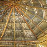 Interesting palapa ceiling!