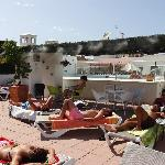 Rooftop terrace by the pool