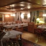 traditional German dining room - the photo shows one of the two dining areas.