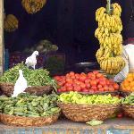 friedlicher Gemüseladen