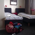 Onze hotelkamer.
