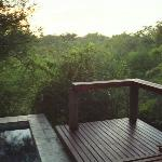 View from our deck with plunge pool