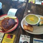 soup and quiche and sandwiches we're delicious!