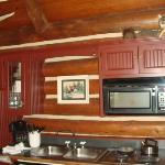 kitchen inside cabin