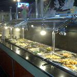 Chinese entree buffet line