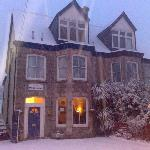 The Donnington Guesthouse in the snow