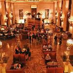 Lobby of the Palmer House Hotel