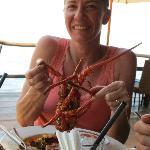 Spiney lobster, yum!