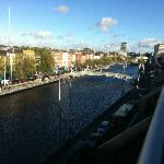 Dublin in the day from our balcony