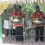 Steelband playing at Sunday brunch