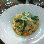 Delicious rissotto from The Italian Corner