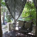 Porch attached to Wisteria Room