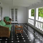 villa veranda, comfortable outdoor furniture