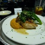 Spinach & Walnut Stuffed Chicken Breast, Mashed Sweet Potatoes & Brocollini