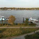 Blick auf die Elbe und den Rüschpark
