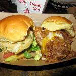 Crab Cake and Pork BBQ slider