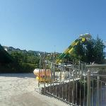 one of the slides at the water park we got entry too. (tsilivi waterpark)