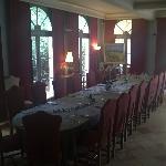 La salle de restaurant Le matin