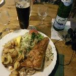 Lunch with the Hius beer. Brauhaus am Lohberg in Wismar