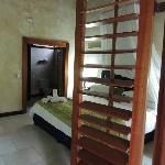 Porte ouverte sur notre chambre!