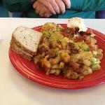 tortilla avocado scramble - I forget its name.