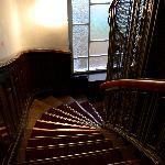 Le vecchie scale di legno