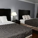 room with two queen size beds