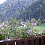 Panorama dal balcone della camera