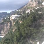 view from our room of Positano.