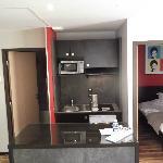Kitchenette, separate bedroom
