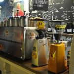 The business end of Brick Lane Coffee