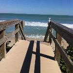 The short walk down to the beach