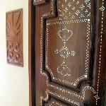 The door to our room-- beautiful Balinese door