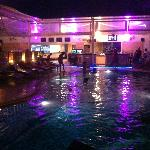 Climax on Bangla- bar, pool and restaurant by night