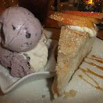 Cheesecake with Wild Berry Ice Cream