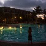 Night swimming- heated pool! :)