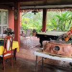 Open air veranda with pool table - a bit unusual to find one in Costa Rica