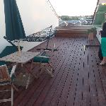 the private deck!