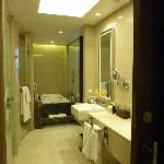 Large bathroom with separate shower & toilet
