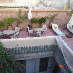 lower roof terrace at riad altair