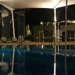 Relax pool at night