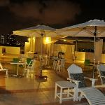 Our roof deck at night