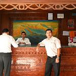 reception desk and our tour manager Raj