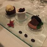 Dessert aux 3 chocolats