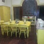 Sala del té y galletas