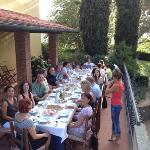 a dinner in Petrognano