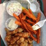 Fried Clams and Sweet Potato Fires